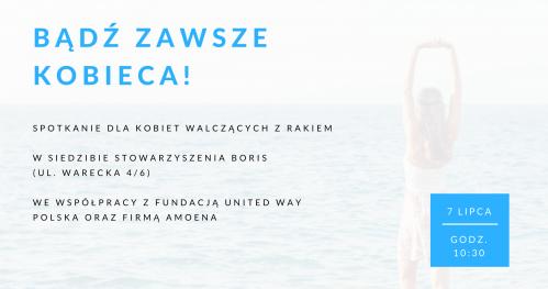 Bądź zawsze kobieca! - Warsztaty dla kobiet walczących z rakiem