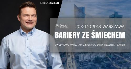 Bariery ze Śmiechem w Warszawie (20-21.10.2018)