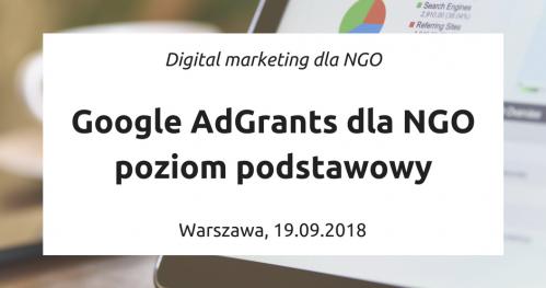 Google Ad Grants dla NGO - poziom podstawowy