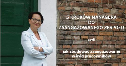 5 KROKÓW MANAGERA DO ZAANGAŻOWANEGO ZESPOŁU - Wrocław 29.08.2018 - bilety