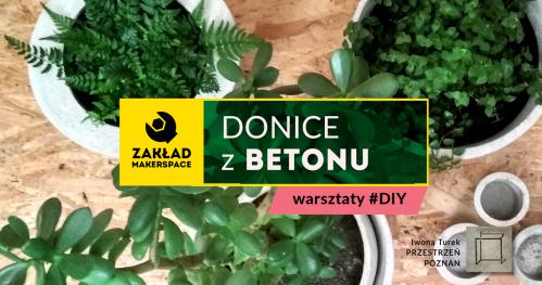 Donice z BETONU // warsztaty #DIY