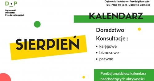 Dąbrowski Inkubator Przedsiębiorczości - Bezpłatne Konsultacje Sierpień