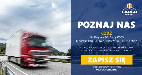 Łódź - Organizuj transport międzynarodowy - Cargo School - Poznaj nas