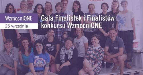 Gala finalistek i finalistów programu WzmocniONE