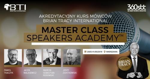 AKREDYTACYJNY KURS MÓWCÓW BRIAN TRACY INTERNATIONAL - MASTER CLASS BUSINESS SPEAKERS - 5 DNI WIEDZY I DOŚWIADCZENIA