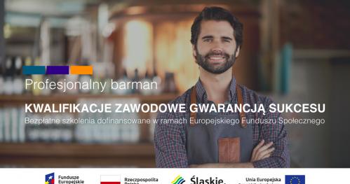 Bezpłatne szkolenie zawodowe PROFESJONALNY BARMAN z darmowym kursem języka niemieckiego