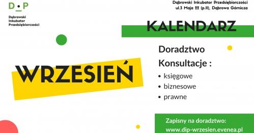 Dąbrowski Inkubator Przedsiębiorczości - Darmowe Konsultacje Wrzesień