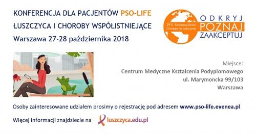 Warszawa - PSO-life - łuszczyca i choroby współistniejące