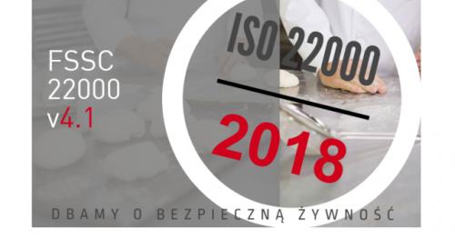 ▶ PEŁNOMOCNIK I AUDITOR WEWNĘTRZNY SYSTEMU ZARZĄDZANIA BEZPIECZEŃSTWEM ŻYWNOŚCI WG FSSC 22000 v4.1 (w tym ISO 22000:2018 i HACCP)