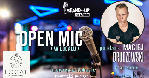 Stand-up No Limits: Open mic (27.09)