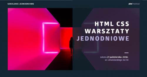 HTML I CSS I 1-dniowy warsztat #PLEOmethod