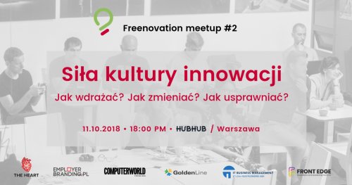 Siła kultury innowacji - Freenovation meetup #2 | Warszawa