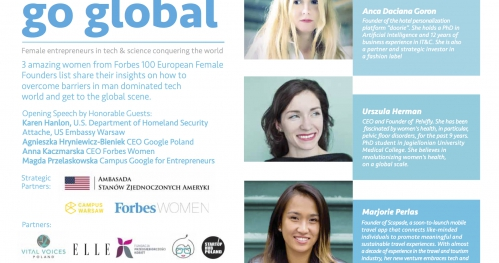 Go Global- get inspired by 3 amazing women from Forbes 100 European Female Founders list