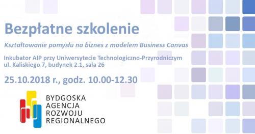 """Bezpłatne szkolenie pt. """"Kształtowanie pomysłu na biznes z modelem Business Canvas"""""""