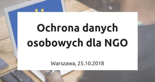 Ochrona danych osobowych w pigułce dla NGO