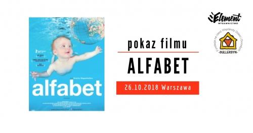 Alfabet - pokaz filmu - Warszawa