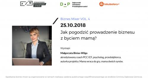 Biznes Mixer vol. 4 - Jak pogodzić prowadzenie biznesu z byciem mamą?