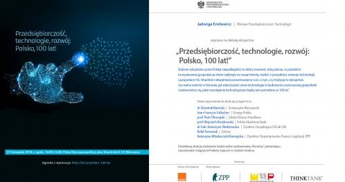Przedsiębiorczość, technologie, rozwój: Polsko, 100 lat!