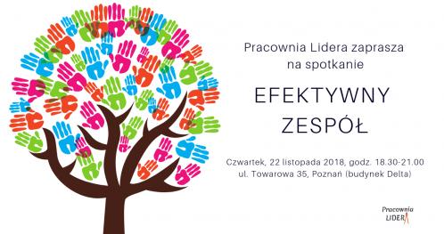 """PRACOWNIA LIDERA - """"Efektywny zespół"""" - Poznań"""