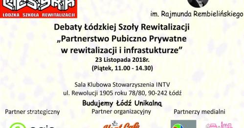 Debata Łódzkiej Szkoły Rewitalizacji