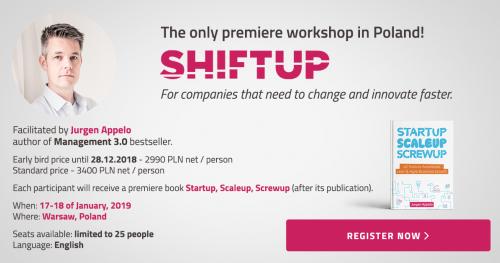 Shiftup - Innovation Leader Workshop - Jurgen Appelo