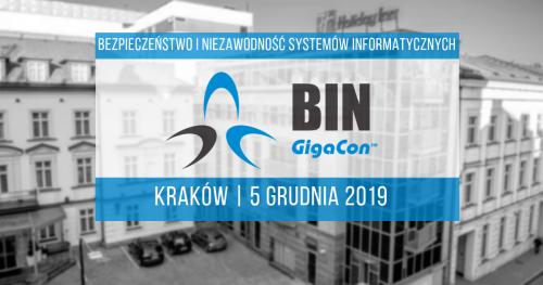 Bezpłata konferencja Bezpieczeństwo i Niezawodność Systemów Informatycznych, 5 grudnia 2019, Kraków