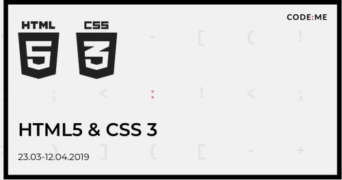 CODE:ME || HTML5 i CSS z elementami JavaScript weekendowo  (marzec-kwiecień 2019)
