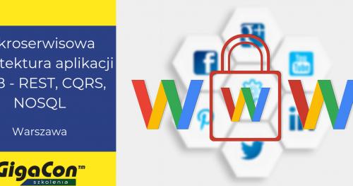 Mikroserwisowa architektura aplikacja WEB - REST, CQRS, NOSQL