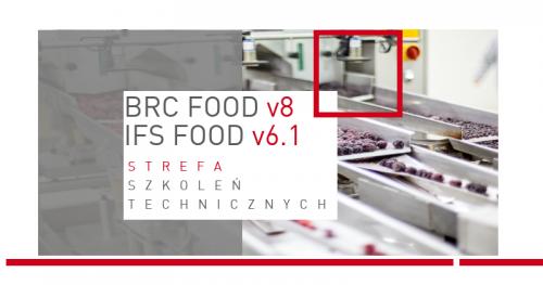 ▶ AUDITOR WEWNĘTRZNY WG BRC FOOD v8 & IFS FOOD v6.1 (w tym HACCP)