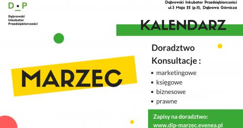 Darmowe Konsultacje Marzec - Dąbrowski Inkubator Przedsiębiorczości