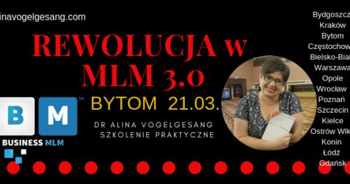 Rewolucja w MLM 3.0.-BYTOM autorskie szkolenie praktyczne dr Aliny Vogelgesang