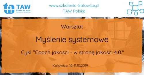 Myślenie systemowe - KATOWICE 10-11.10.2019