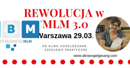 Rewolucja w MLM 3.0.Warszawa autorskie szkolenie praktyczne dr Aliny Vogelgesang