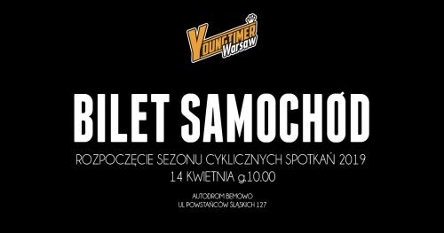 Bilet Samochód Rozpoczęcie Sezonu Cyklicznych Spotkań YW 14.04.2019 Autodrom Bemowo