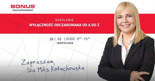 NR 1 Warszawa Szkolenie Nieruchomości Izy MIKS Wyłączność Odczarowana edycja 40 Agent Pośrednik