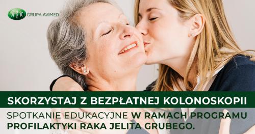 Zadbaj o swoje zdrowie. Przyjdź na spotkanie edukacyjne w ramach programu Profilaktyki Raka Jelita Grubego i wykonaj bezpłanie badanie kolonoskopii.