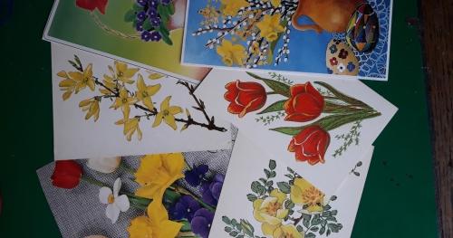 Powrót do tradycji - warsztaty zdobienia papierowych kartek wiosenno-wielkanocnych
