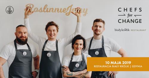 Chefs For Change w Gdyni! Roślinna kolacja charytatywna w Restauracji Biały Królik