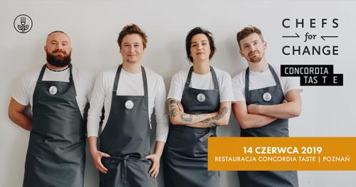 Chefs For Change w Poznaniu! Roślinna kolacja charytatywna w Restauracji Concordia Taste