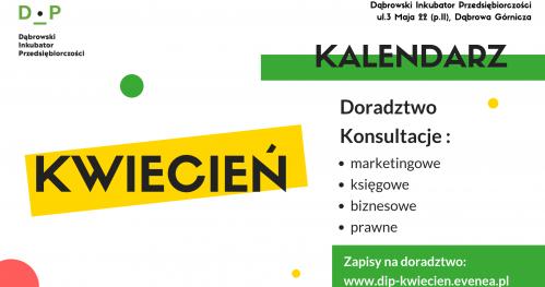Darmowe Konsultacje Kwiecień - Dąbrowski Inkubator Przedsiębiorczości