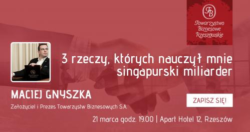 Marcowe Spotkania Towarzystwa Biznesowego Rzeszowskiego dla Gości