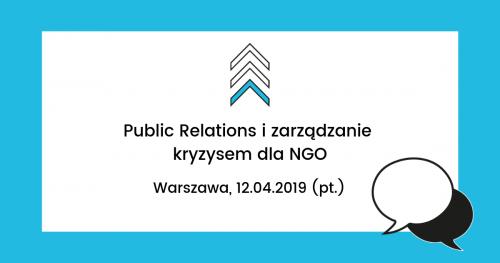 Public Relations i zarządzanie kryzysem dla NGO