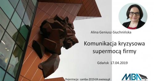 Komunikacja kryzysowa supermocą firmy - Gdańsk 17.04.2019