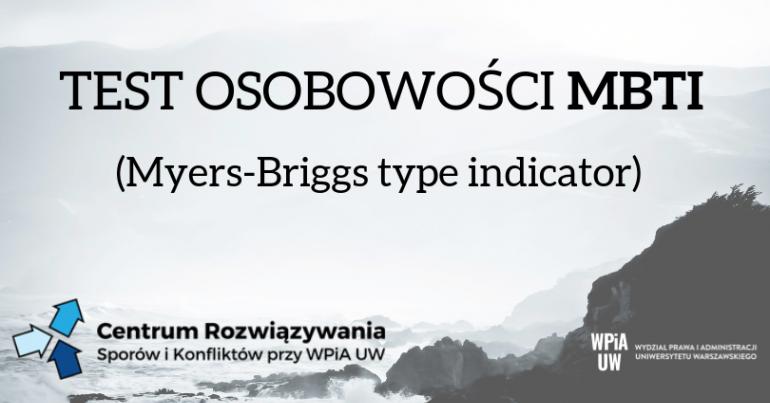 Test osobowości MBTI - Inne w Warszawie, 13 05 2019 - Evenea pl