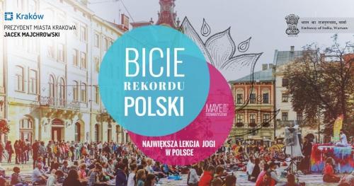 Bijemy Rekord Polski we wspólnym ćwiczeniu jogi. Kraków 22 czerwca 2019