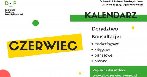 Darmowe Konsultacje Czerwiec - Dąbrowski Inkubator Przedsiębiorczości