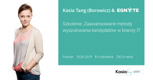 Kasia Tang (Borowicz) & Egnyte: szkolenie sourcingowe