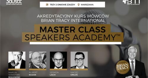 AKREDYTACYJNY KURS MÓWCÓW BRIAN TRACY INTERNATIONAL - MASTER CLASS SPEAKERS ACADEMY - 6 DNI WIEDZY I DOŚWIADCZENIA