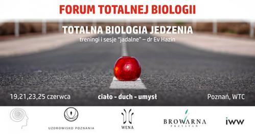 """TOTALNA BIOLOGIA JEDZENIA - spotkania i treningi """"jadalne"""""""