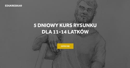 Wakacyjny kurs rysunku w Gdyni dla 11-14 latków!